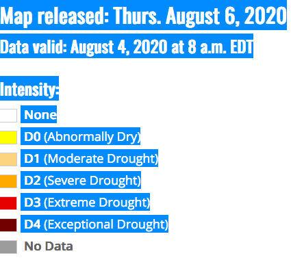 Drought Map Key