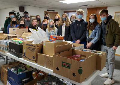 Griswold Student Council Food Drive Successful