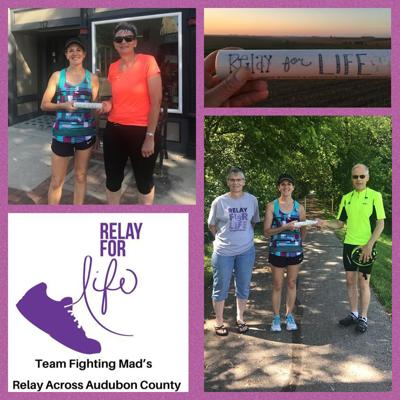 Team Fighting Mad's Relay Across Audubon County