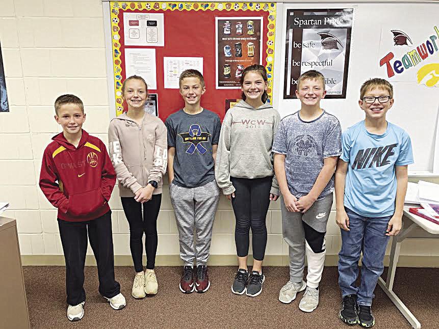 Exira-EHK sixth grade Iowa Thinking Cap Quiz Bowl Participants