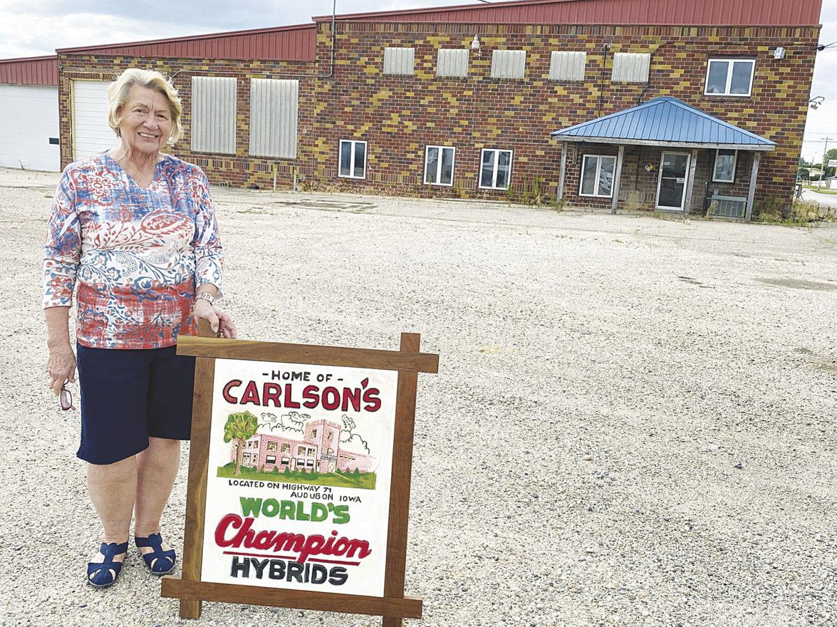 Nancy Sand and the former Carlson's building