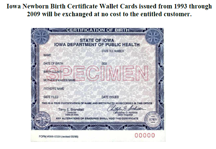 New birth certificates needed for thousands of Iowans | Audubon ...