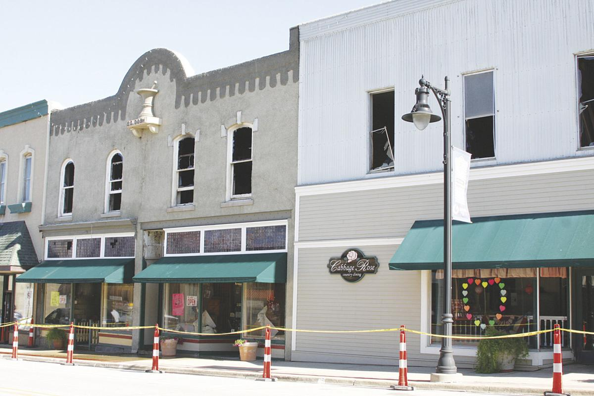 Front view of the businesses affected