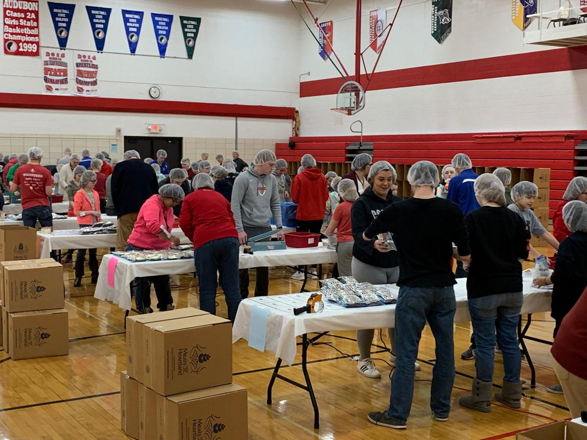 Audubon FFA partners with Meals from the Heartland to package over 35,000 meals for the hungry