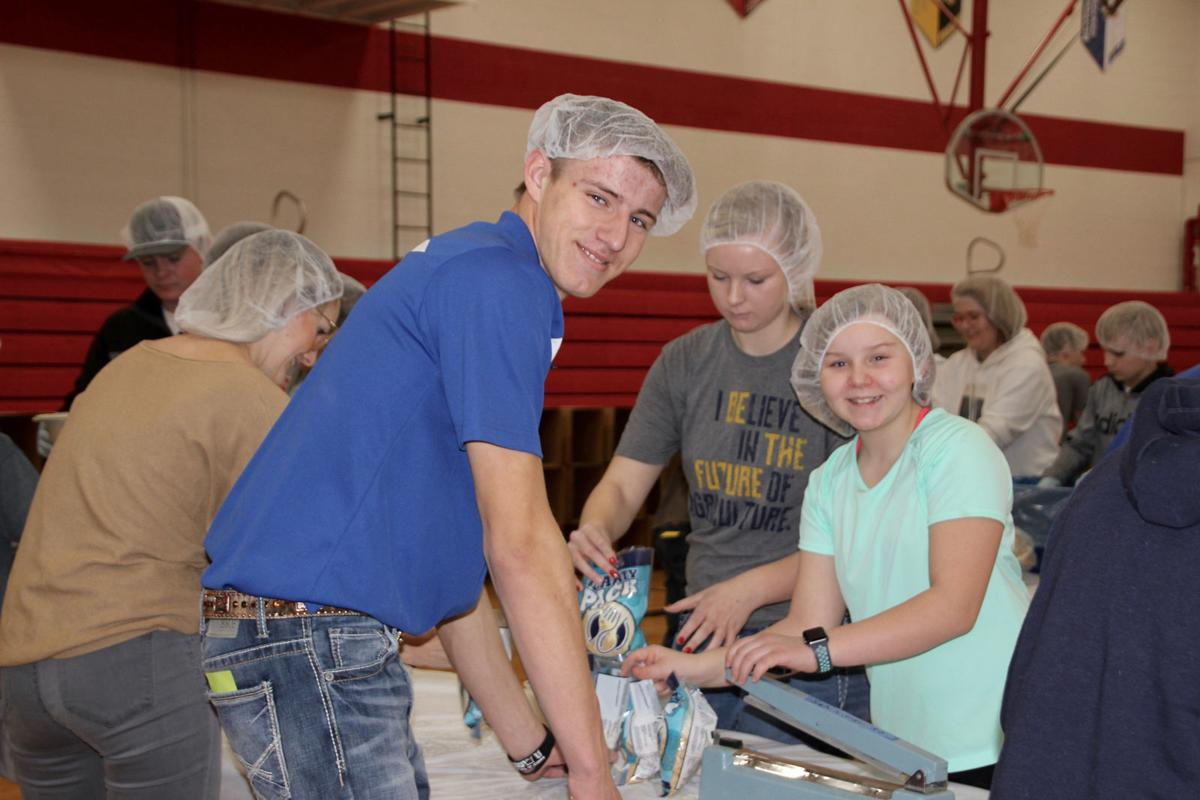 Audubon FFA packages over 35,000 meals for the hungry