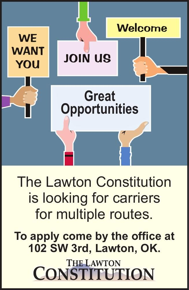 Lawton Constitution Carriers Wanted