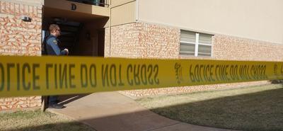 Police shooting scene