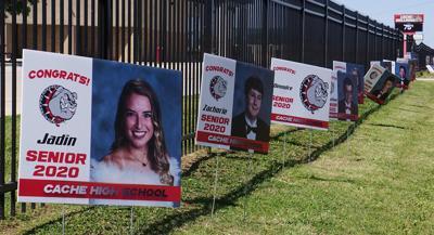 Cache senior pictures displayed
