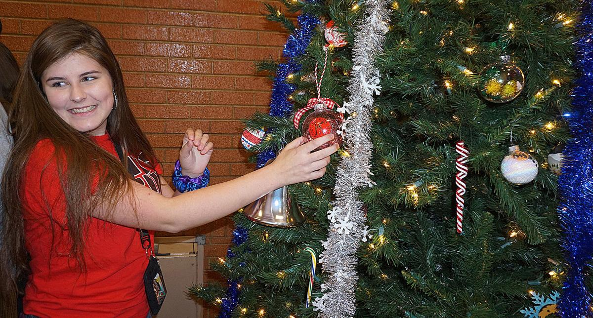 Lawton Police Department Christmas tree decorated