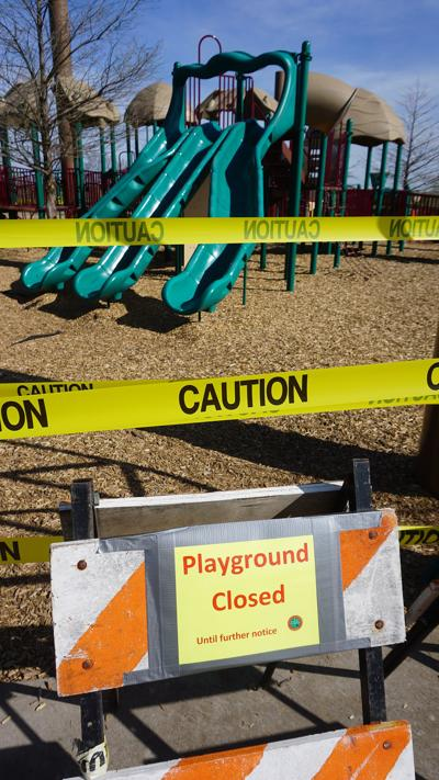 Playgrounds closed in Lawton