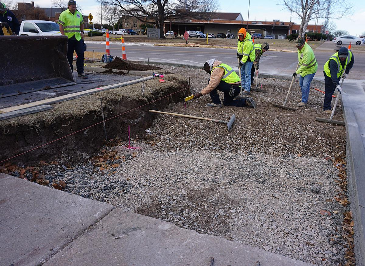 Lawton City Library gets new handicap walkway