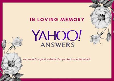 Farewell Yahoo Answers