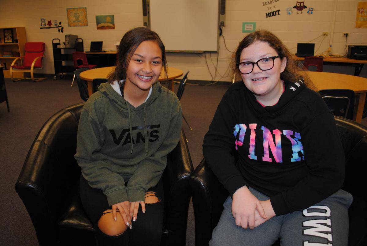 Elgin Middle School eight graders Kamryn Quintanilla and Libi Bennett