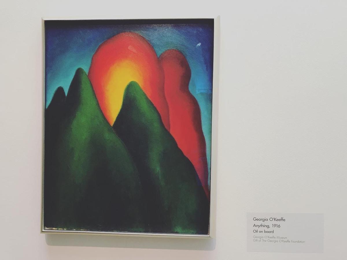 A Georgia O'Keefe paintin in Santa Fe