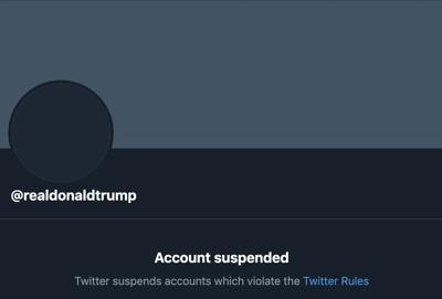 The ban hammered got dropped on Trump's Twitter account