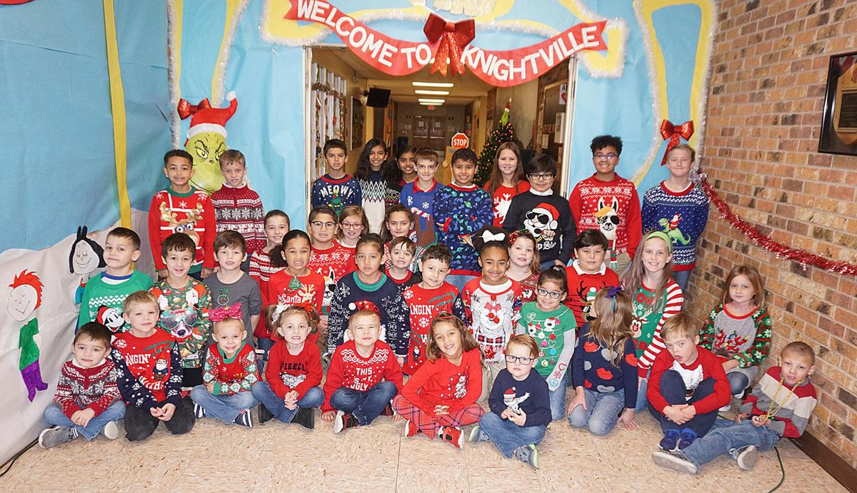 Ugly sweater day at Hugh Bish Elementary