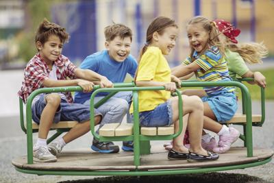 Kids on merry-go-round