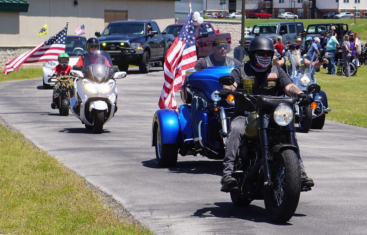 Drive-by parade for  Lt. Dobbs