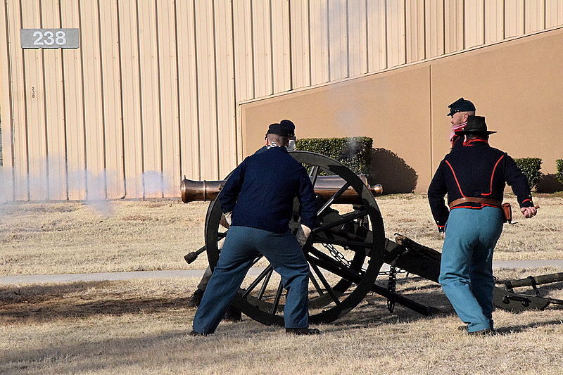 Fort Sill cannon demo