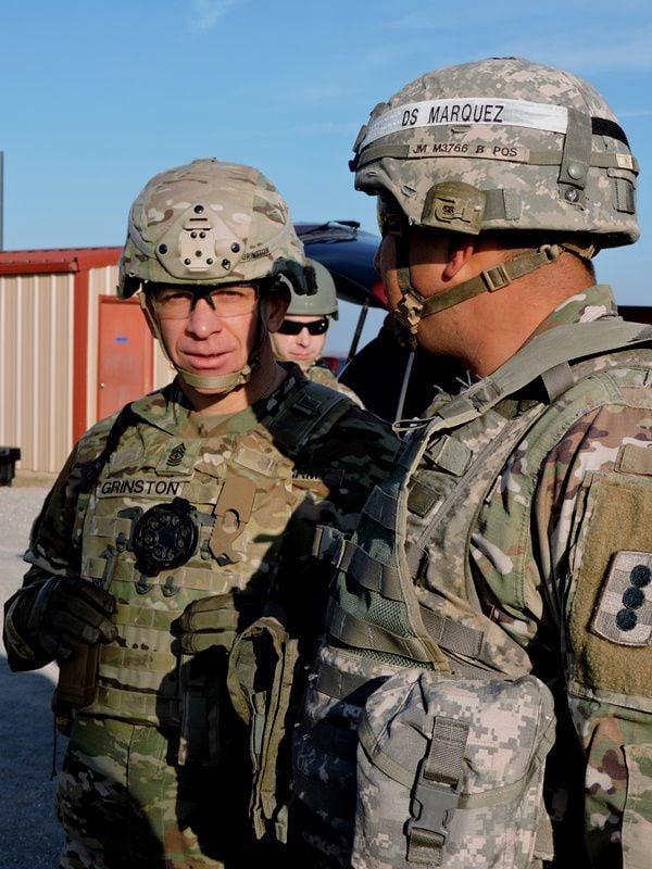 Drill sergeant briefing SMA Grinston