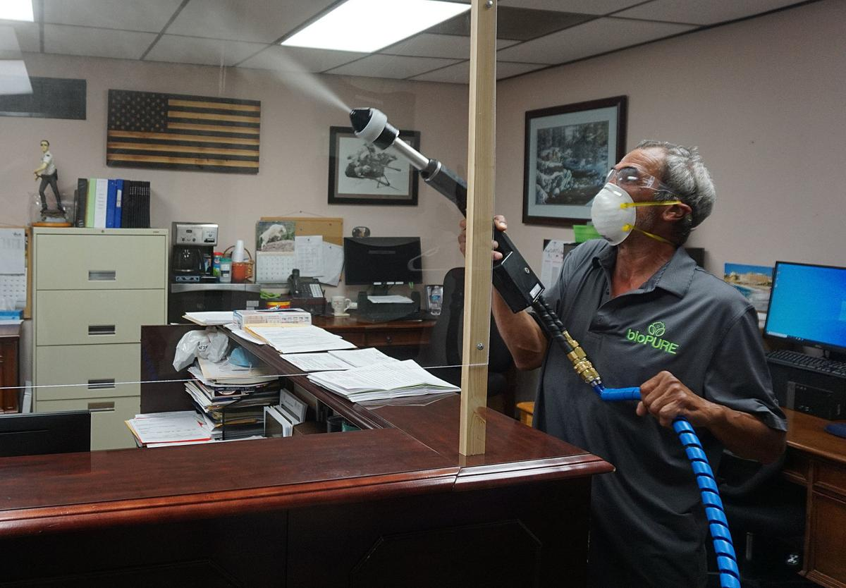Disinfecting the Court House