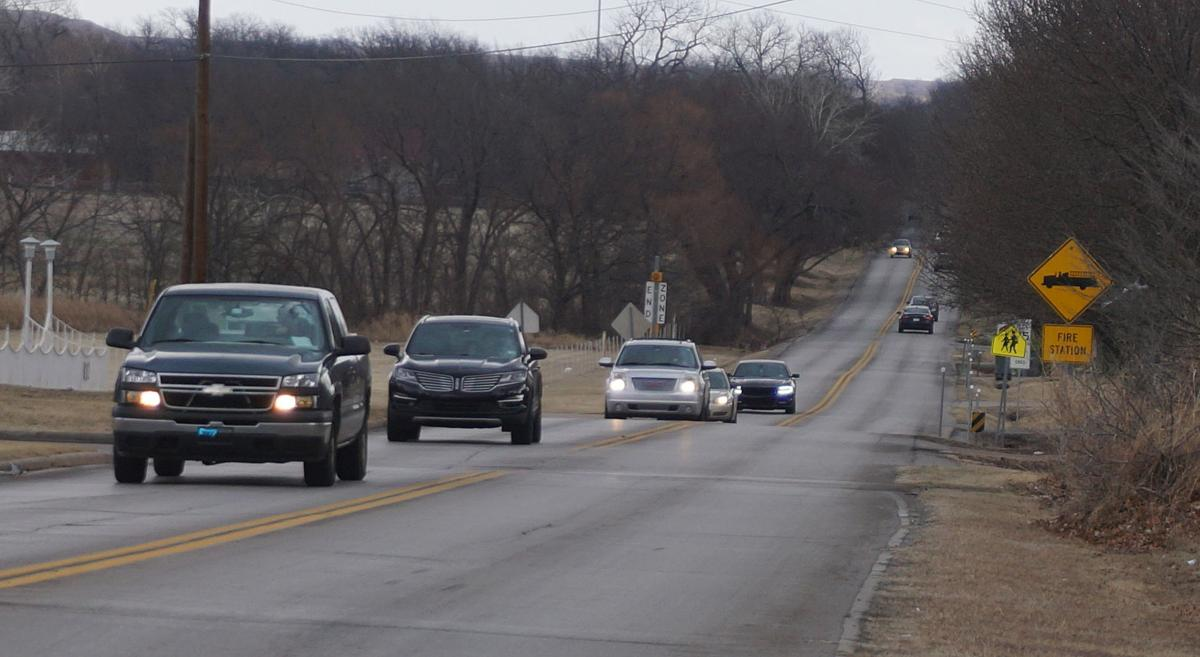 West bound traffic on East Rogers Lane