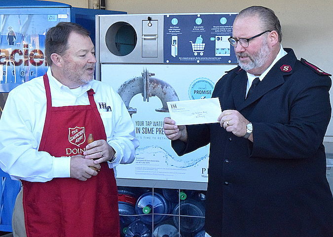 First Red Kettle donation