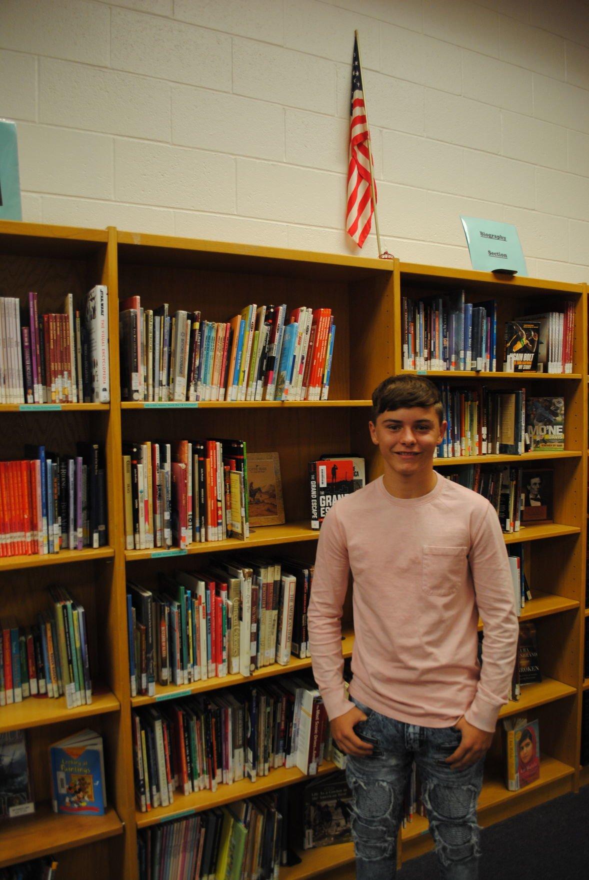 Elgin Middle School eight grader Levi Billings