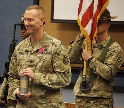 Fort Sill retreat ceremony honoring Col. Mark A. Holler