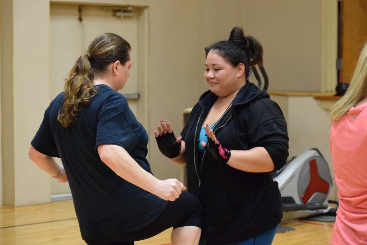 Self-defense class at Patterson Center