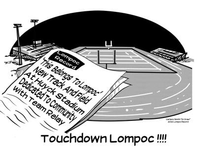 Editorial Cartoon: Touchdown Lompoc!