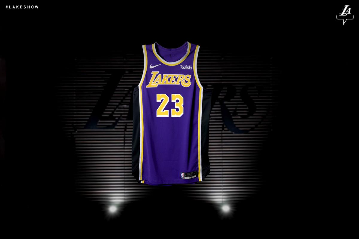 Los Angeles Lakers unveil new jersey design  2f9c0fd29