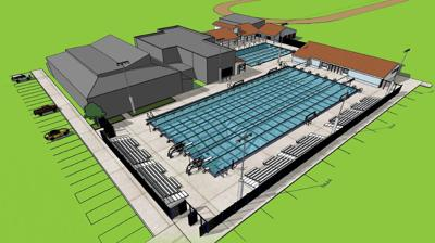 Artist's concept of new pool complex