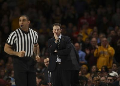 Minnesota head coach Richard Pitino trails Wisconsin in the second half on Wednesday, Feb. 6, 2019, at Williams Arena in Minneapolis.