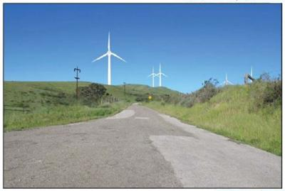 Strauss Wind Energy turbine view simulation