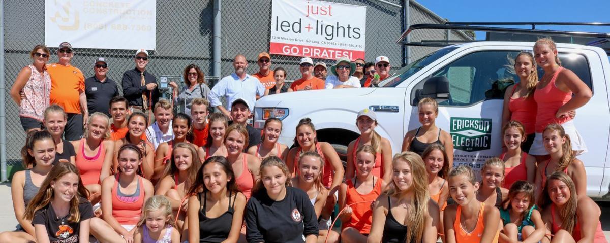 SYVUHS tennis courts illuminated