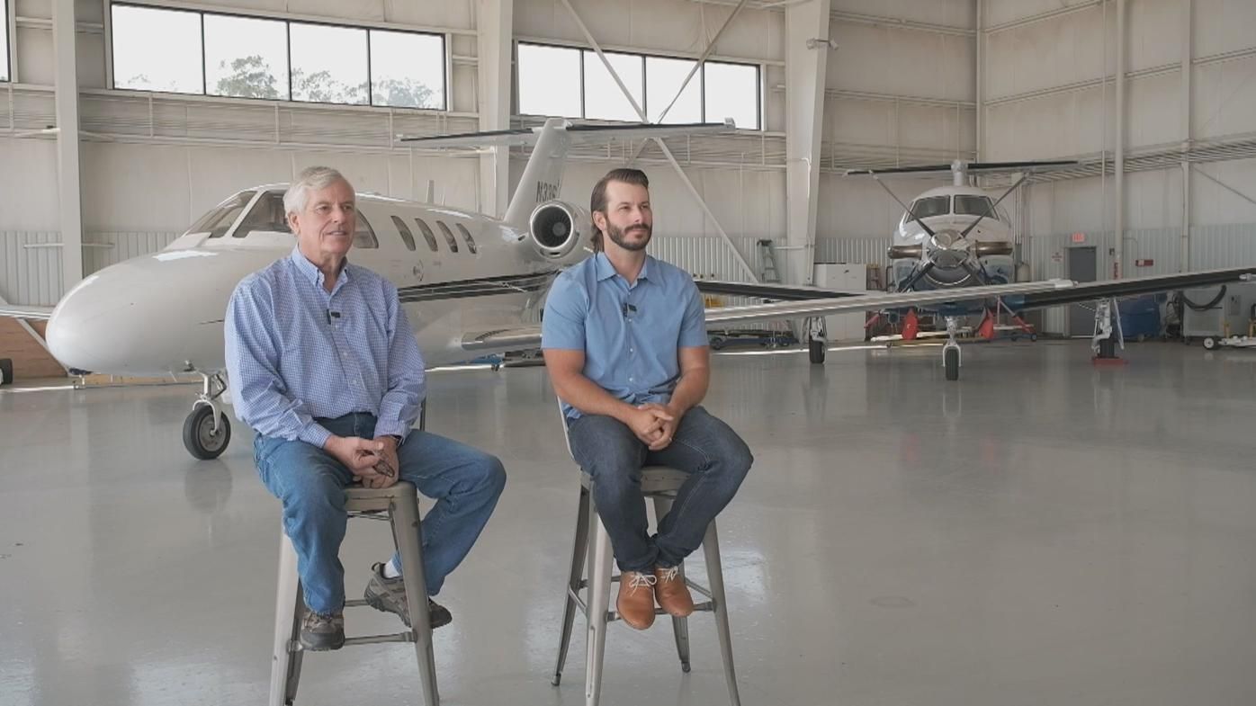 Central Coast Jet Center President Jim Kunkle and VP of Operations Chris Kunkle