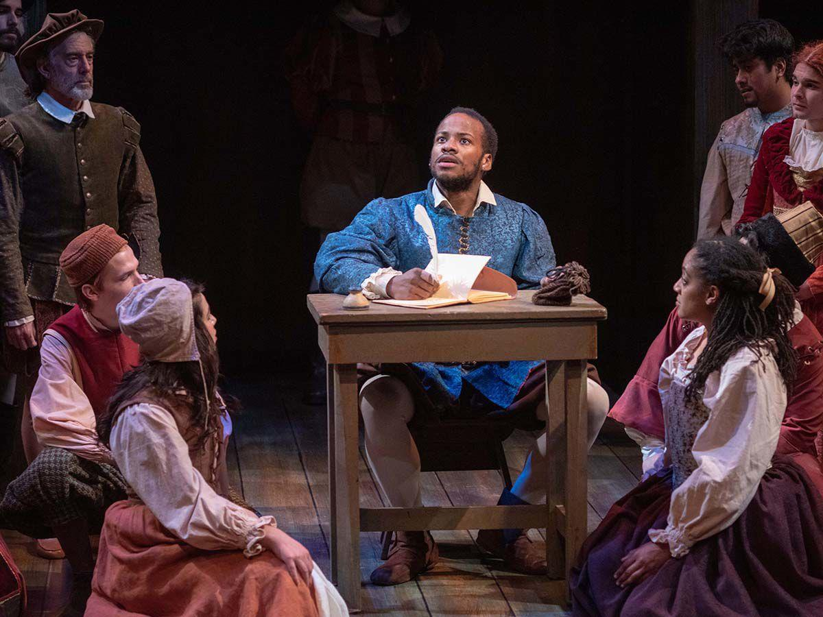 Yusef Seevers as Will Shakespeare in a scene from PCPA's production of 'Shakespeare in Love'