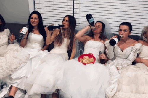 These Friends Threw A Divorce Party — In Their Wedding Gowns