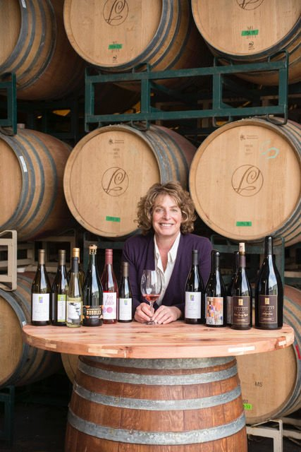 Vintner and winemaker Kathy Joseph in the Fiddlehead Winery