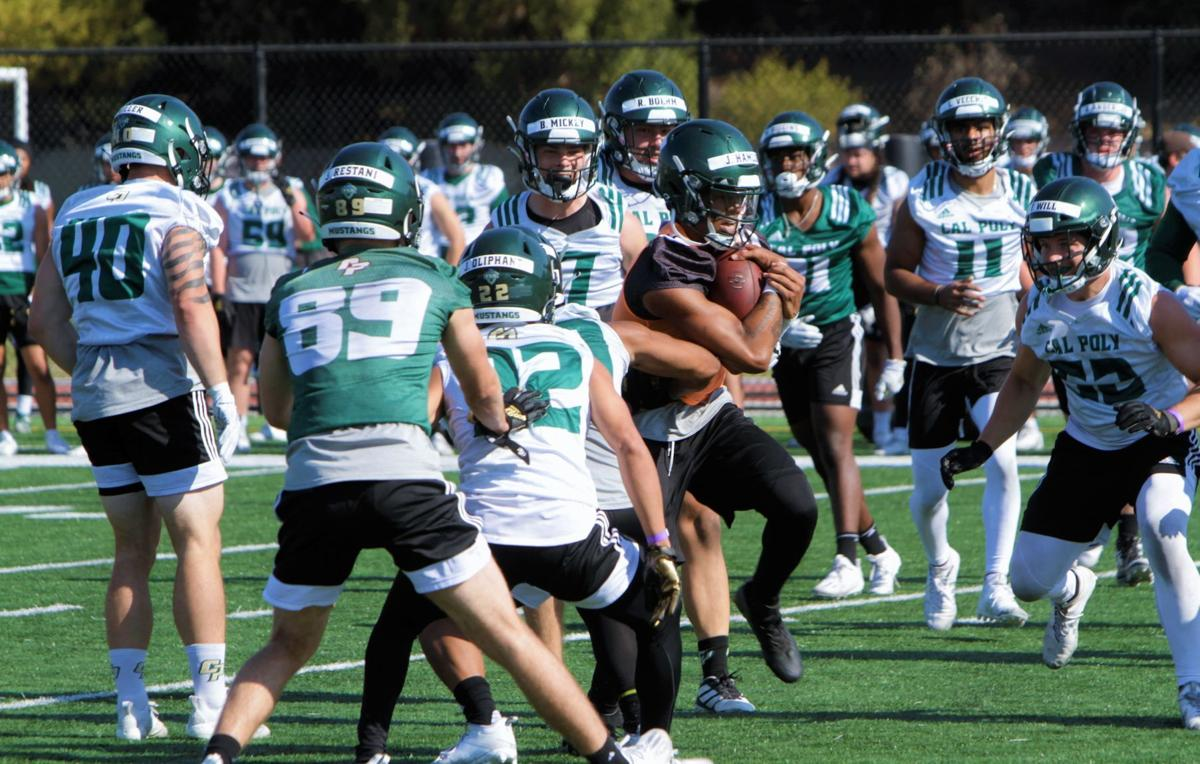 Cal Poly Football Mustangs Happy To Be Back As Fall Ball Camp Hits Day Two Local Syvnews Com