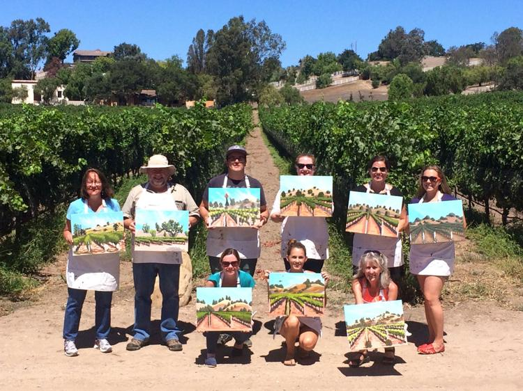 Painting in the Vineyard at Brander