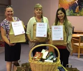 First Bank Solvang branch food drive