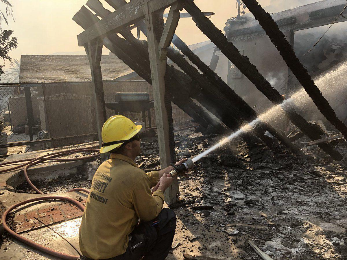 Santa Barbara County crews work Woolsey fire