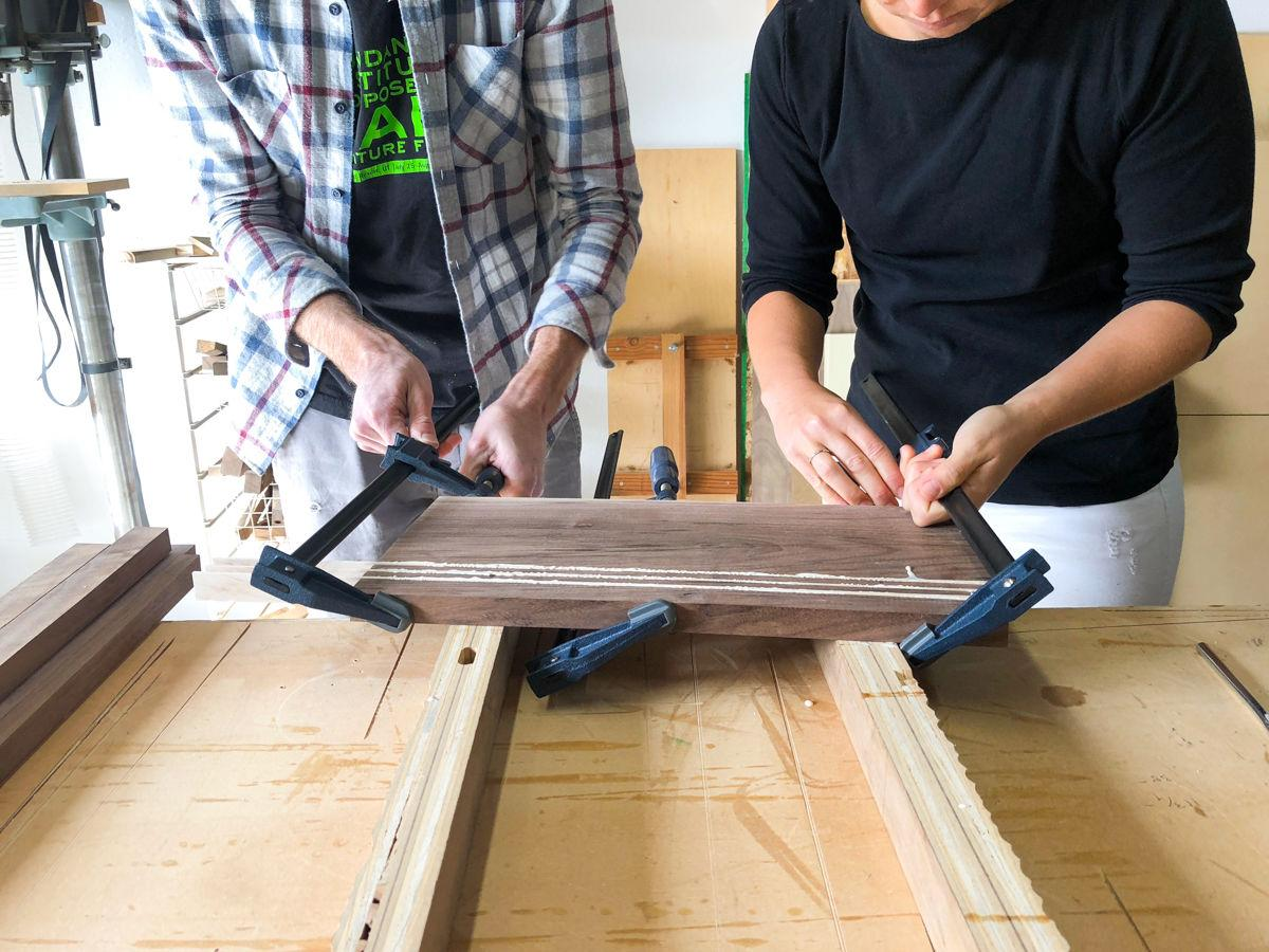 Gluing the Cutting Board Together