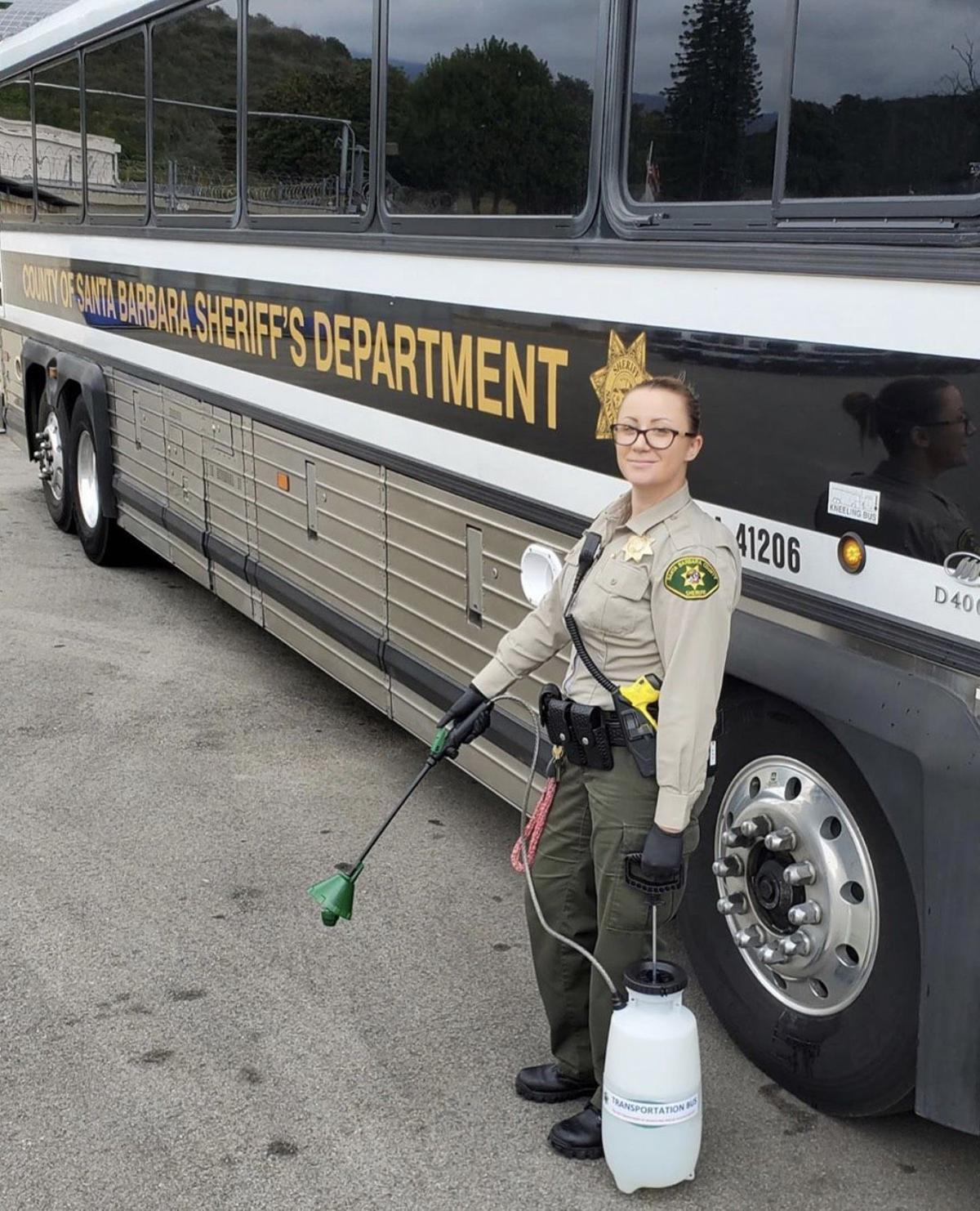 Sheriff's deputy bus disinfection