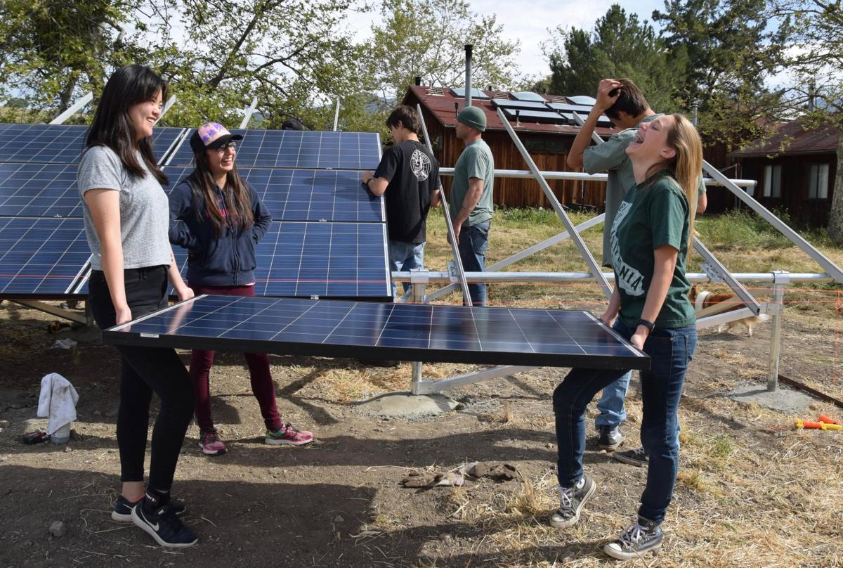 Midland School solar array 2