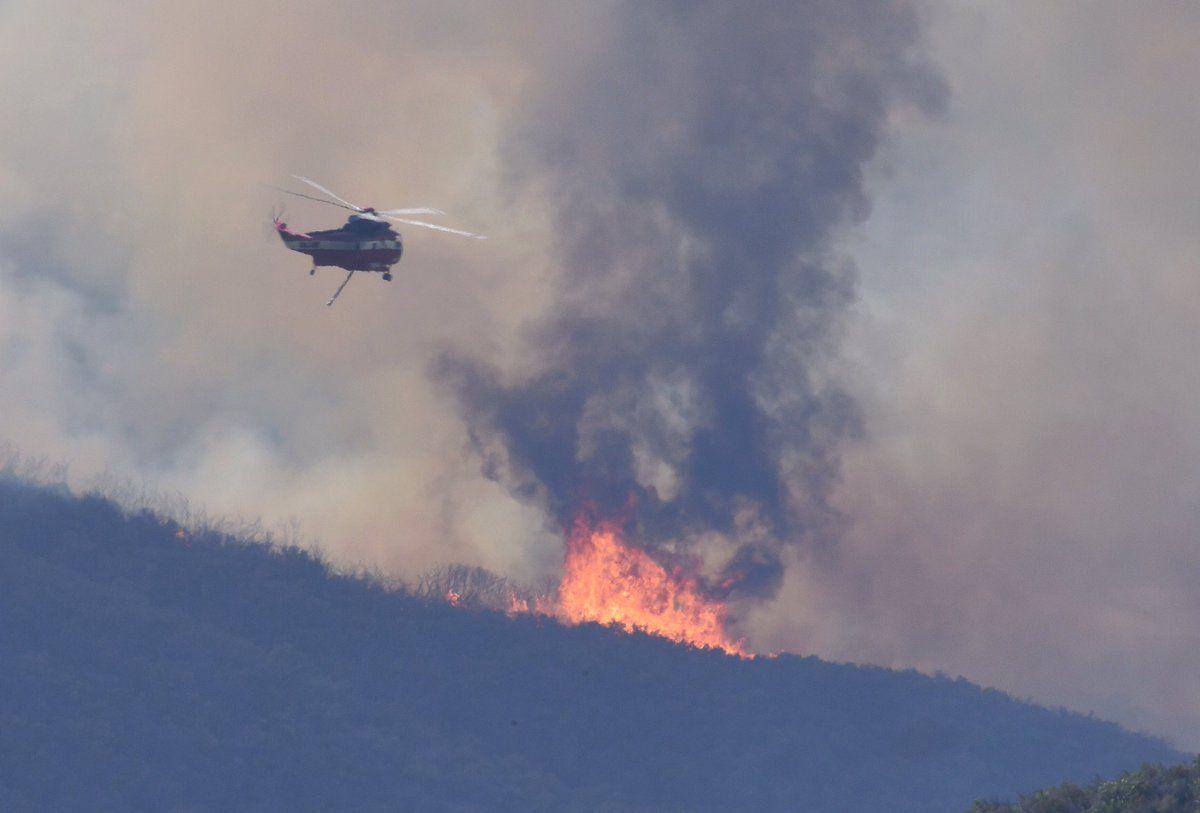 Whittier fire near Cachuma Lake burns 10823