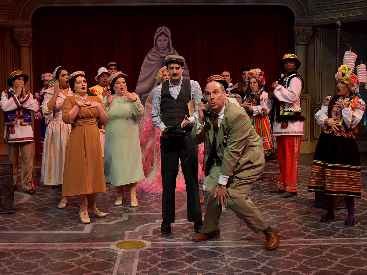 """The cast of PCPA's """"Lend Me a Tenor: The Musical"""" perform in the Marian Theatre, Santa Maria"""