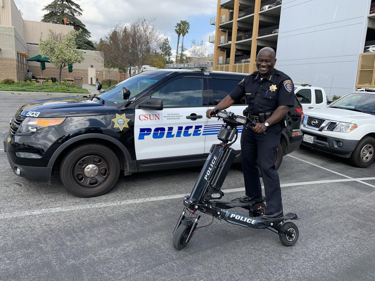 CSU Northridge police officer on Trikke Interceptor